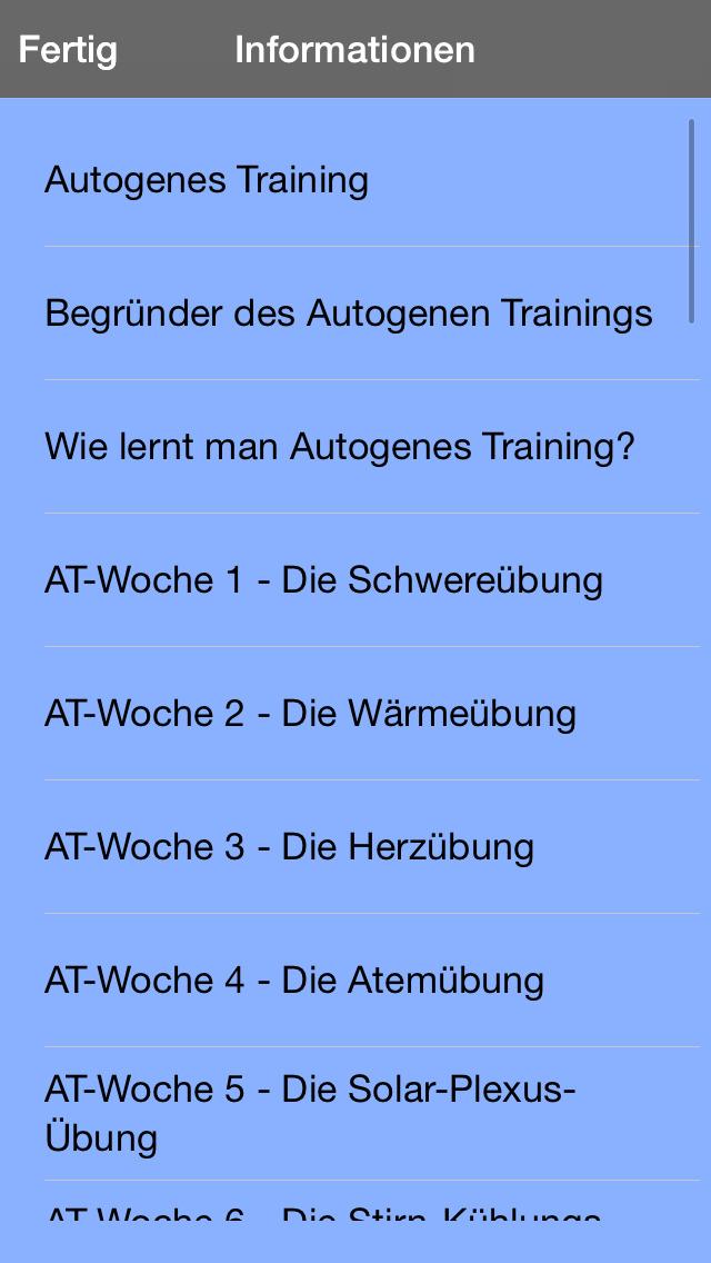 Autogenes Training 7 Wochen Kurs screenshot 4