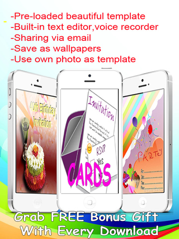 The Ultimate Invitation eCards - Customize and Send Invitation eCards with Invitation Text and Voice Messages screenshot 6
