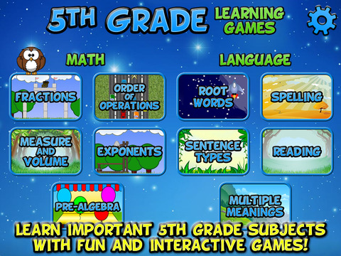 Fifth Grade Learning Games screenshot 6