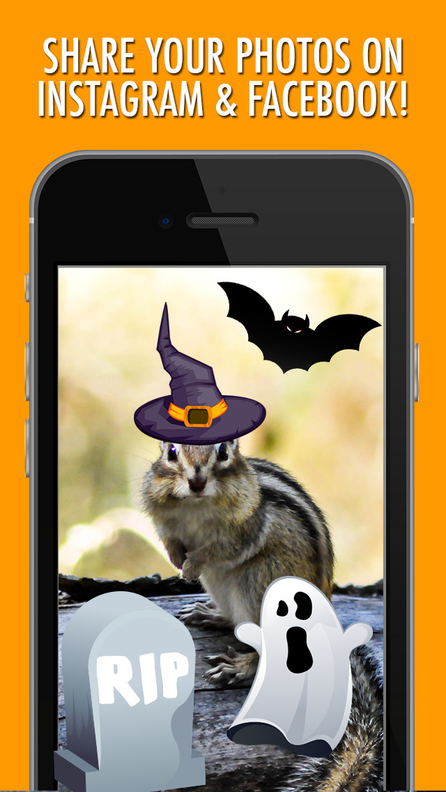 Halloween Picture Stickers: The Scary Photo Maker screenshot 1