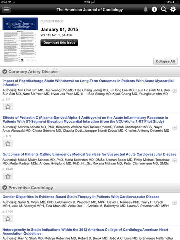 American Journal of Cardiology screenshot 8