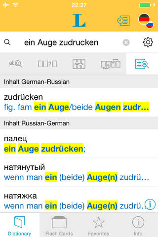 Russian <-> German Talking Dictionary Standard - náhled