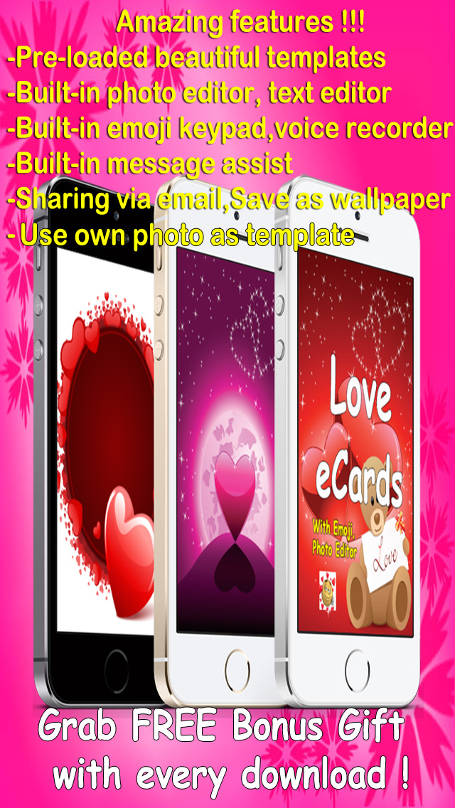 Love e-Cards and Wallpapers Maker.Customising and sending romantic love and valentine cards screenshot 1