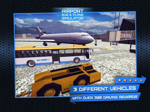 3D Airport Bus and Air-Plane Simulator - Real Driving, Racing & Parking School and Car Test Drive Game screenshot 10