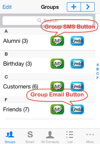 Smart Group: Email, SMS/Text & Contacts - náhled