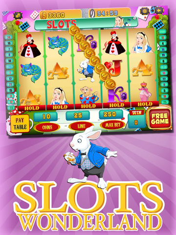 A Lucky Rabbit Slots Game - Vegas Wonderland Casino Games HD screenshot 6