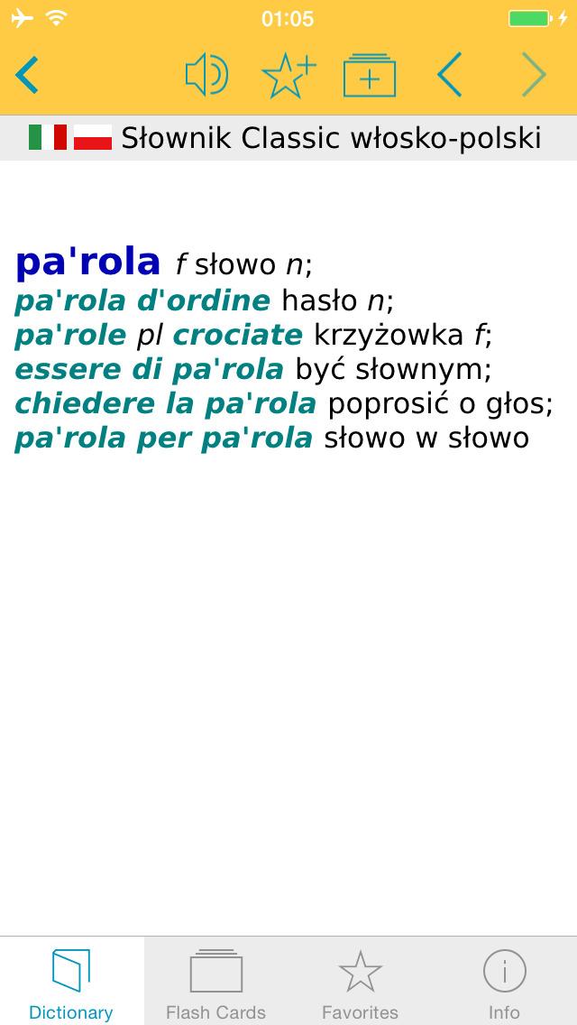 Słownik CLASSIC polsko <-> włoski screenshot 5
