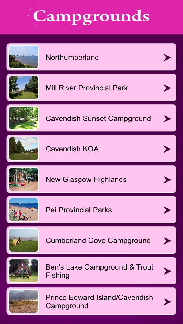 Prince Edward Island Campgrounds screenshot 2