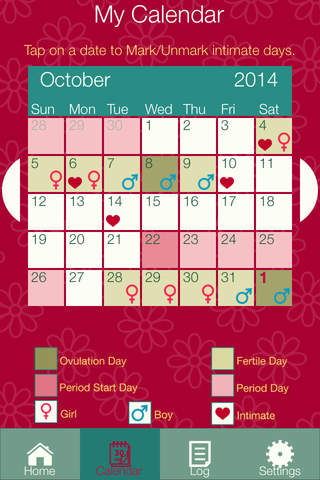 Fertility Diary 2016 - Ovulation & Period Tracker  - náhled