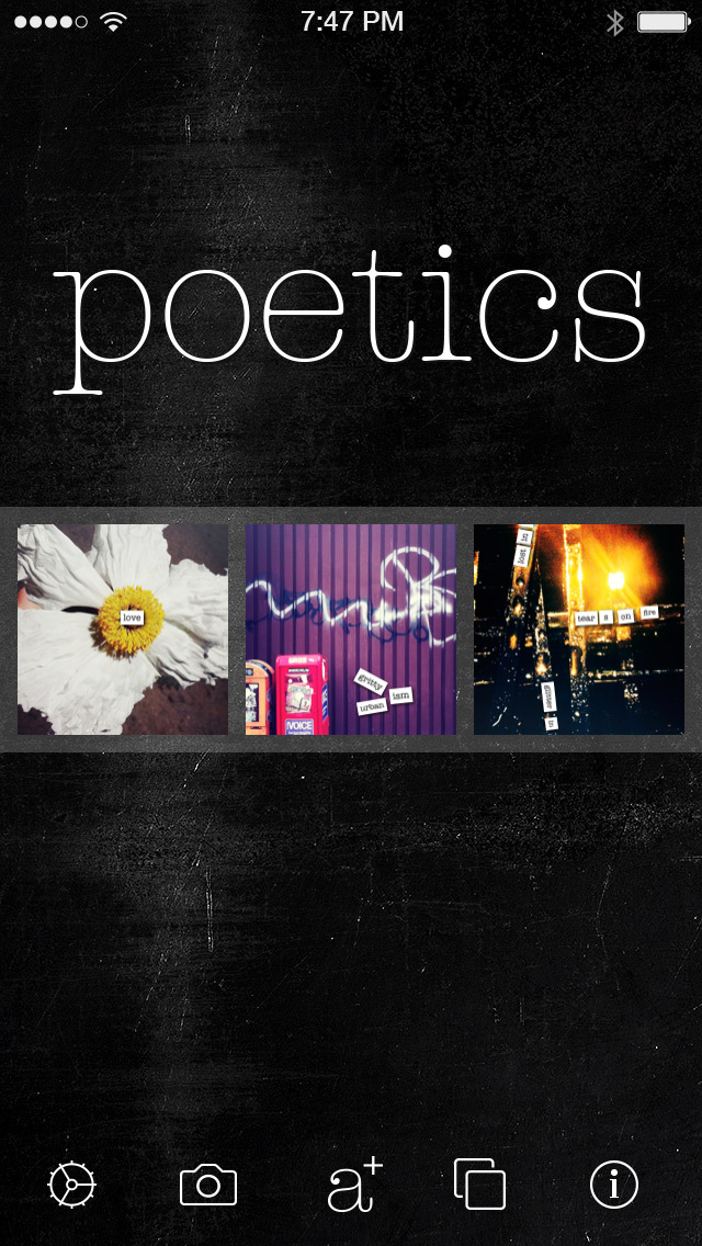Poetics - create, write and share visual poetry screenshot 1