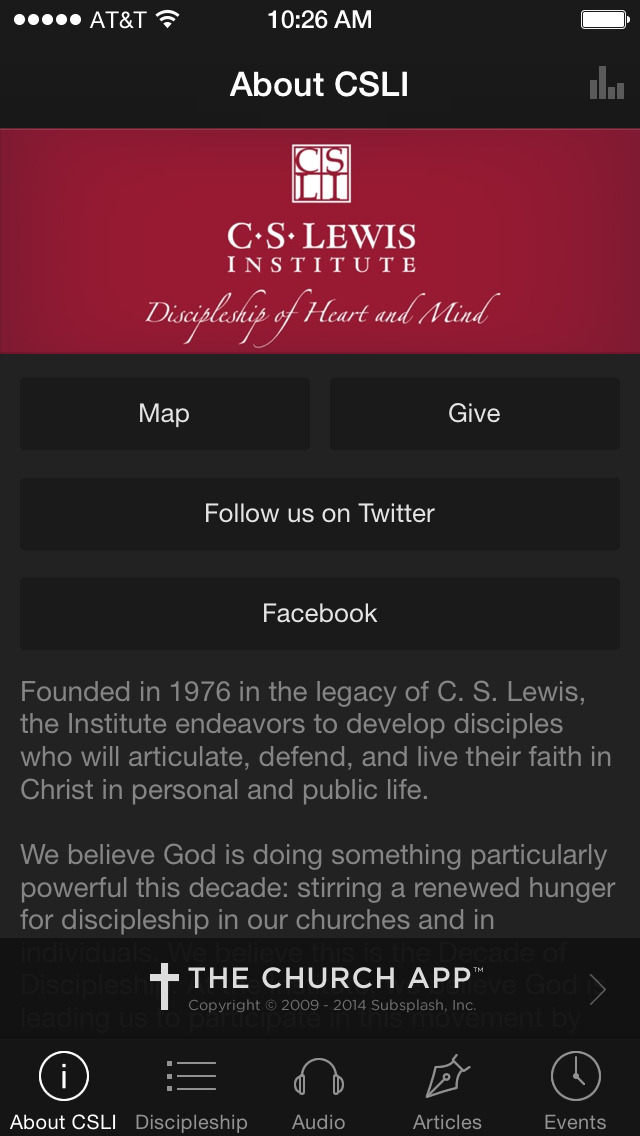 C.S. Lewis Institute screenshot 1
