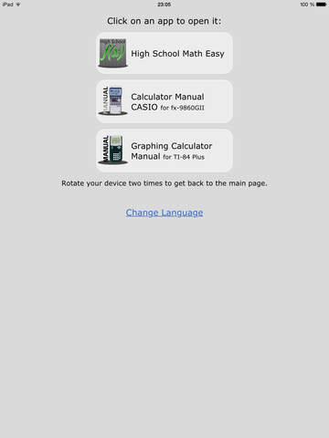 High School & College Apps Math - Manual for Graphing Calculators TI-84 Plus, TI-Nspire CX and CASIO fx-9860GII. screenshot 7