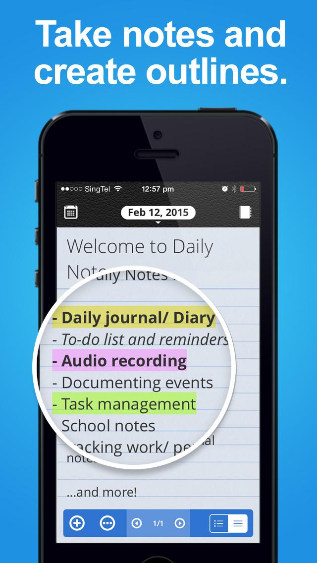 Daily Notes + Tasks screenshot 4