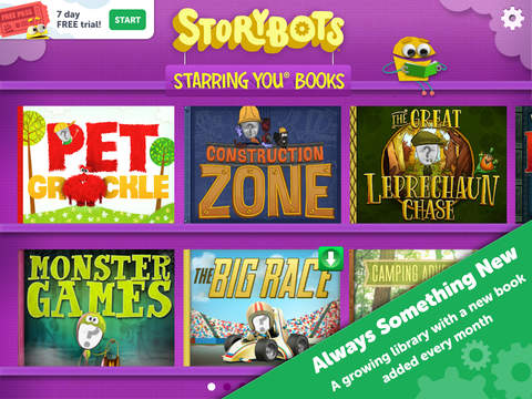 StoryBots – Learning Books, Videos and Games Starring Your Child! screenshot 2