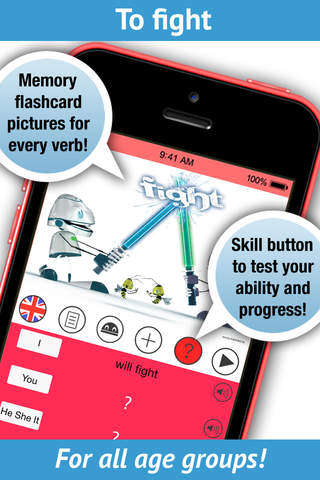 LearnBots English Verbs Pro - Pronunciation by a n - náhled