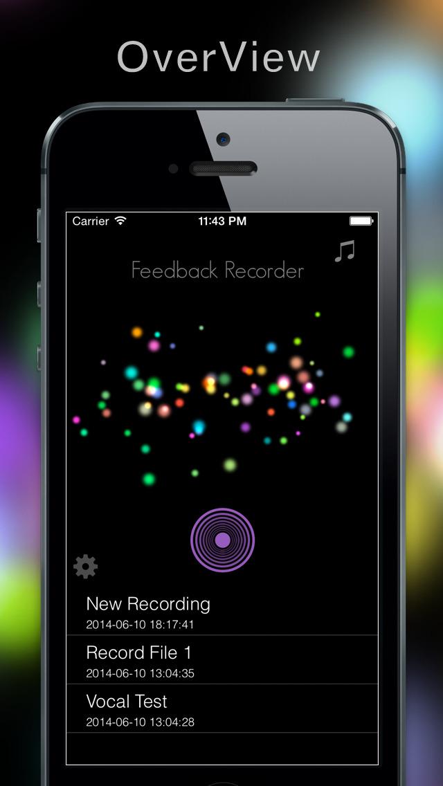 Feedback Recorder screenshot #2
