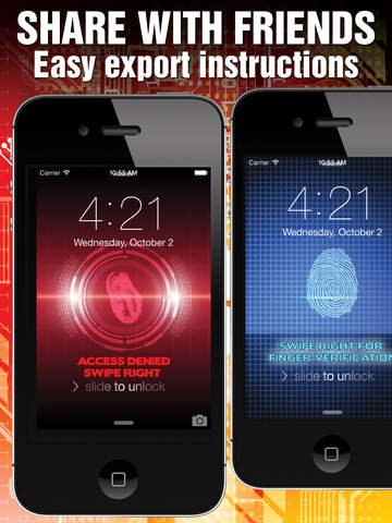 Lock Screen Fingerprint Illusion Wallpapers: iOS 8 Edition screenshot 9