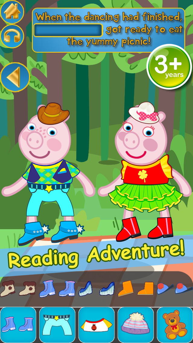 My Interactive Happy Little Pig Story Book Dress Up Time Game - Advert Free App screenshot 5