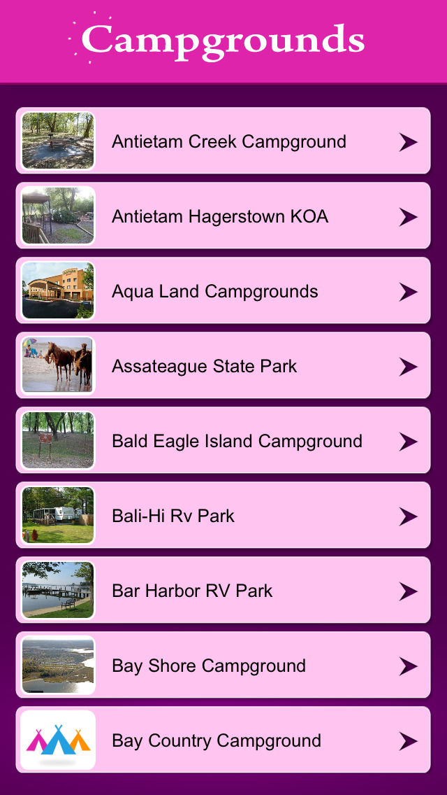 Maryland Campgrounds Guide screenshot 2