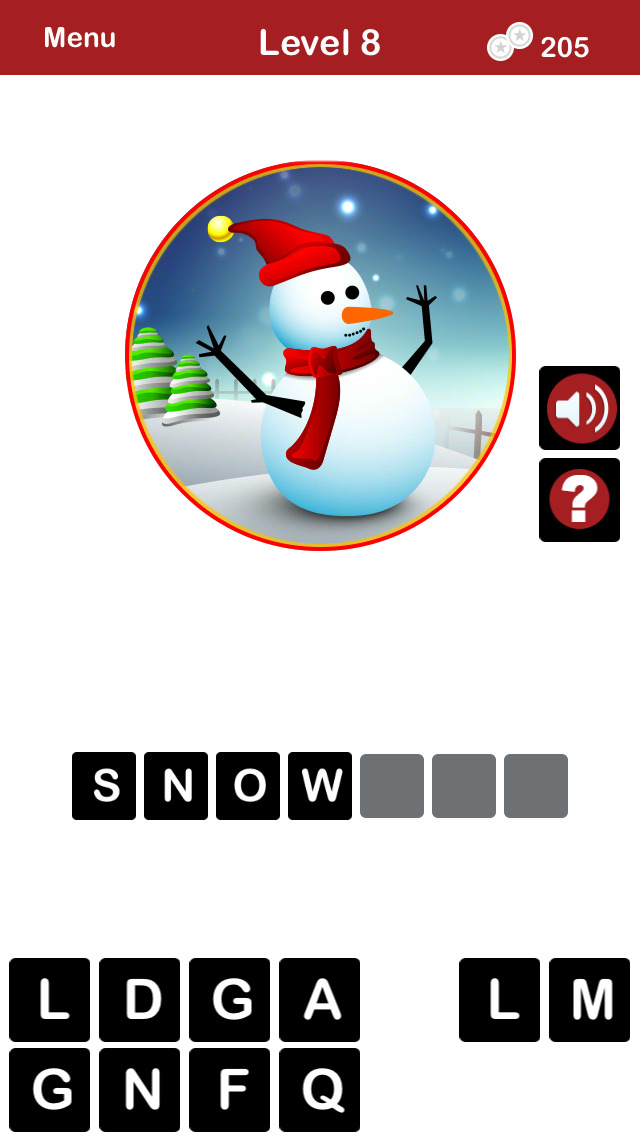 QUIZMAS PICS HOLIDAY TRIVIA - The Christmas Picture Word Trivia Game for the Holiday Season. screenshot 2