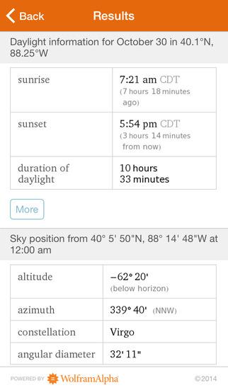 Wolfram Sun Exposure Reference App screenshot 5