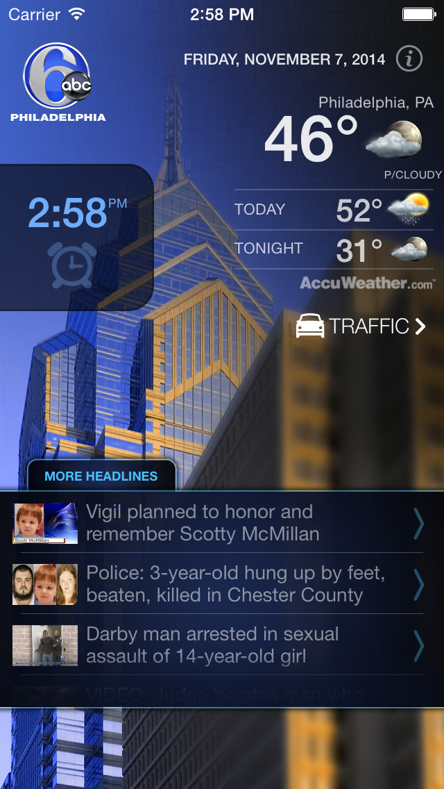 6abc Philadelphia Alarm Clock screenshot 1