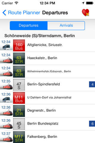 Swiss Transport App - náhled