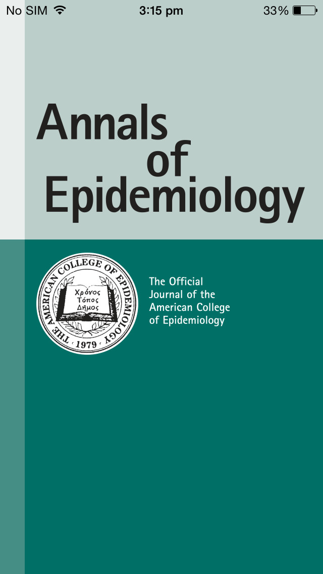 Annals of Epidemiology screenshot 1