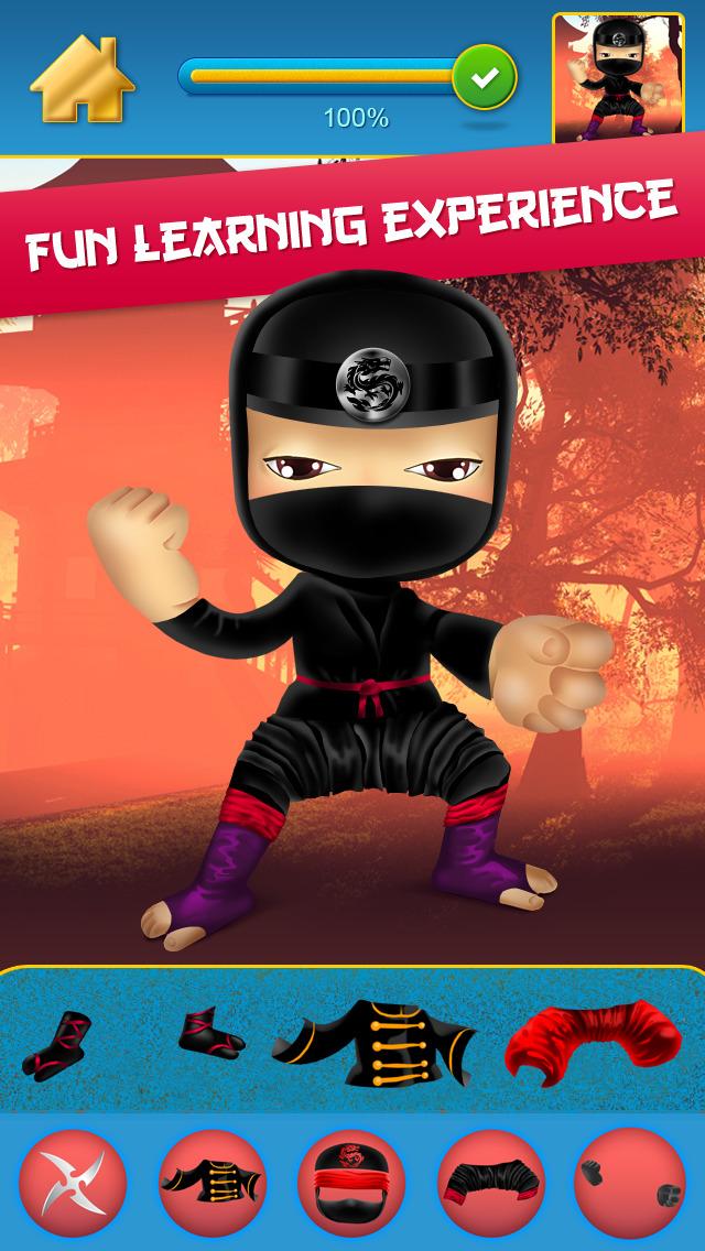 My Mega Power Ninja Hero Design & Copy Crazy Game screenshot 2