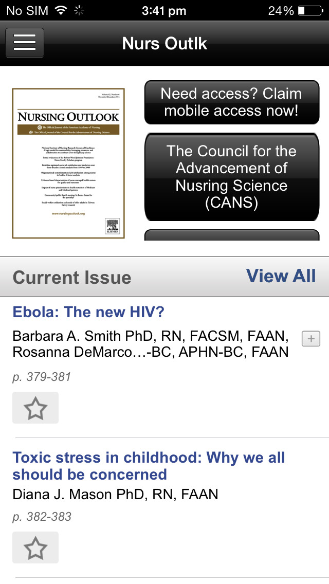 Nursing Outlook screenshot 3