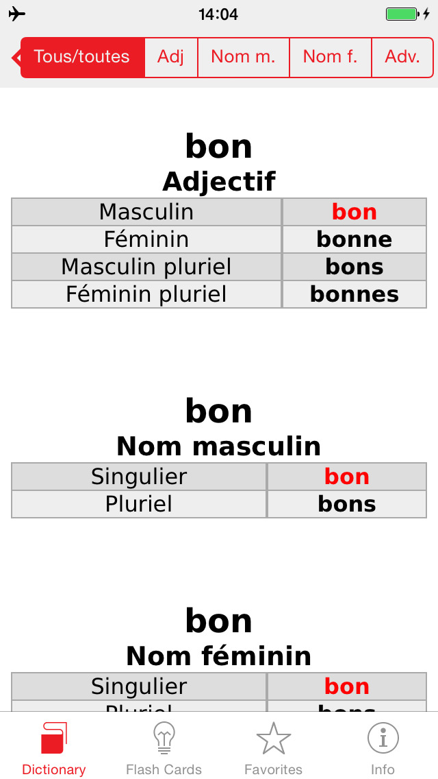 English - French Berlitz Mini Talking Dictionary screenshot 5