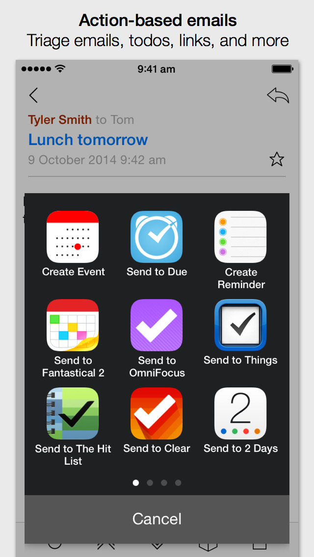 Dispatch: Email meets GTD screenshot 3