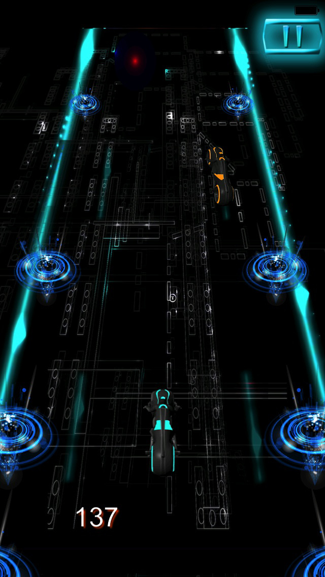 Turbo Mania Pro : Persecution Racing Neon 3D Bike screenshot 4