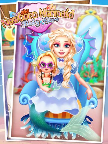 Mermaid's Newborn Baby Doctor - kids game & new baby screenshot 6