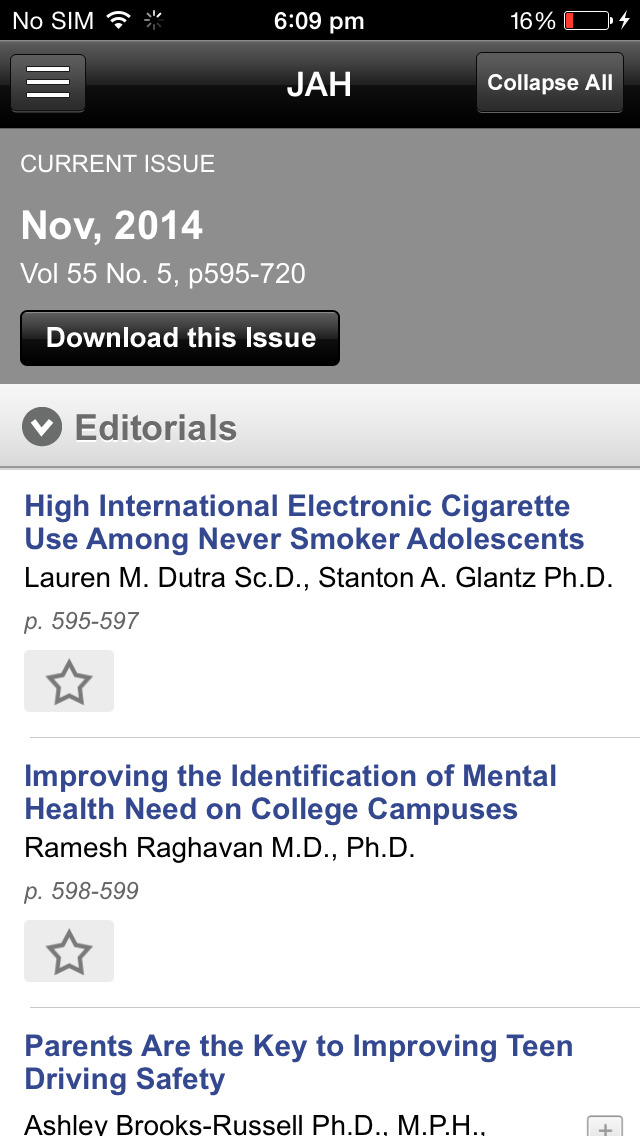 Journal of Adolescent Health screenshot 5