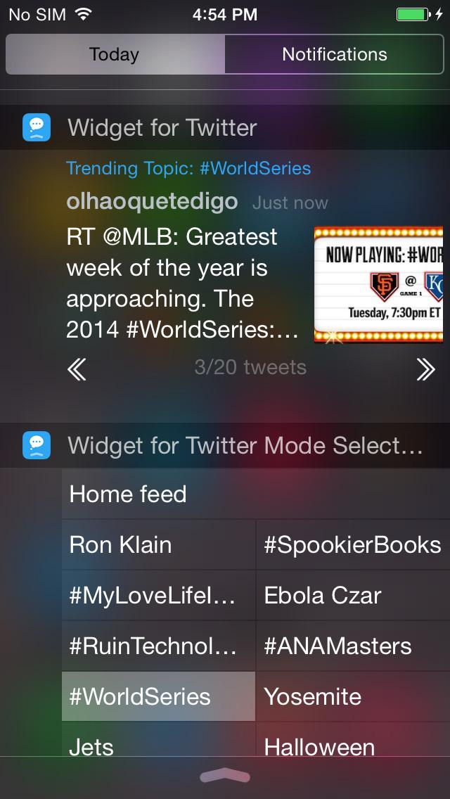 Widget for Twitter screenshot 1