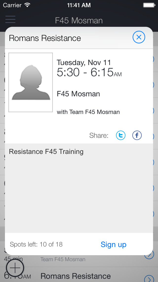 F45 Mosman screenshot 2