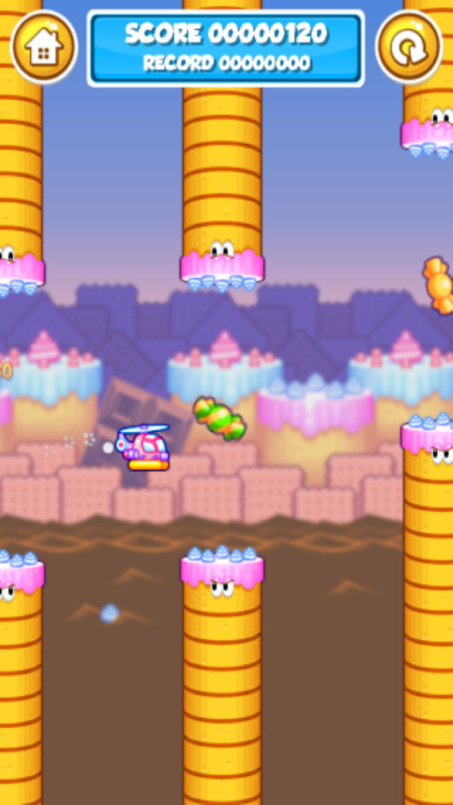 Candy Copter - Flappy Swing Heli-copters Game screenshot 3