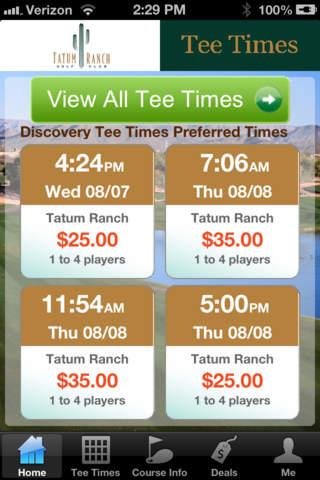 Tatum Ranch Golf Club Tee Times - náhled