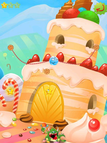 Rope Castle : The Monster Cut Candy screenshot 10