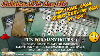 Solitaire All In One HD Pro - The Classic Card Game Full Deluxe Puzzle Pack for iPad & iPhone screenshot 3