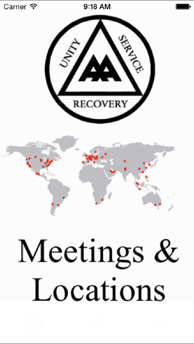 Alcoholics Anonymous Meetings & Locations screenshot 1
