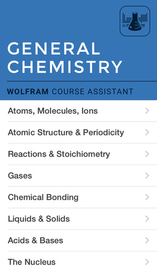 Wolfram General Chemistry Course Assistant screenshot 1