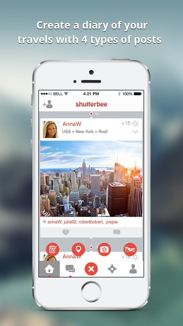 ShutterBee - map and share your travels screenshot 1