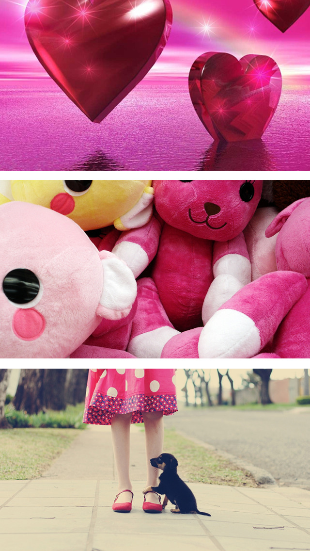 Cute Girly Wallpapers - Pink & Floral Pictures HD screenshot 3