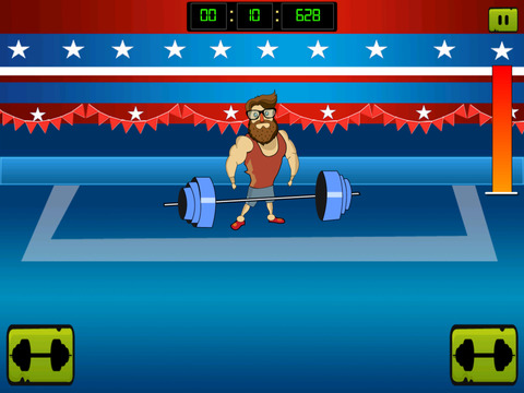 ` Hipster Weight Lifting: Tiny Meat Head Battle Competition Games screenshot 10