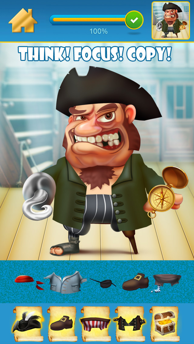 My Pirate Adventure Draw And Copy Game - The Virtual Dress Up Hero Edition - Free App screenshot 3