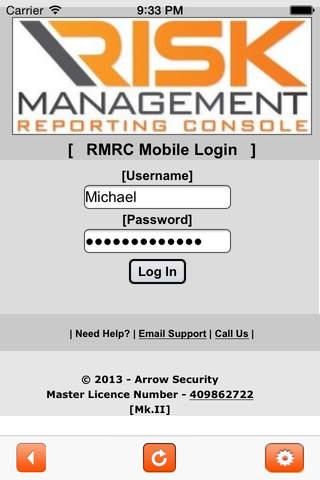 Arrow Security RMRC Mobile - náhled