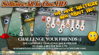Solitaire All In One HD Pro - The Classic Card Game Full Deluxe Puzzle Pack for iPad & iPhone screenshot 2