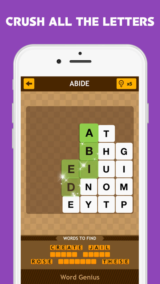 Word Genius - The Most Addictive Word Brain Puzzle Game is on Tour now! screenshot 4